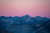 Alpenglow over Yosemite National Park