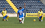 Kilmarnock v St Johnstone……15.08.20   Rugby Park  SPFL<br />Liam Craig, Aaron Tshibola and Craig Conway take the knee before kick off<br />Picture by Graeme Hart.<br />Copyright Perthshire Picture Agency<br />Tel: 01738 623350  Mobile: 07990 594431