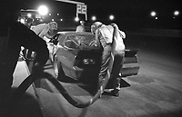 The #21 Pontiac Firebird of Mike Field, Jack Newsum and Rob McFarlin makes a pit stop en route to a 68th place finish in the SunBank 24 at Daytona, Daytona International Speedway, Daytona Beach, FL, Feb. 4-5, 1984. (Photo by Brian Cleary/www.bcpix.com)