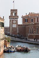 Italie, Vénétie, Venise:  Le rio de l'Arsenal un canal dans le sestiere de Castello.   // Italy, Veneto, Venice: