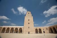 TUNISIE Kairouan centre spirituel et religieux  Grande Mosquee mosquee Oqba Ibn Nafi ....TUNISIA minareto della Grande Moschea citta santa di Kairouan....TUNISIA Kairouan Great Mosque