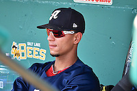 Ronny Cedeno (23) of the Reno Aces before the game against the Salt Lake Bees in Pacific Coast League action at Smith's Ballpark on July 24, 2014 in Salt Lake City, Utah.  (Stephen Smith/Four Seam Images)