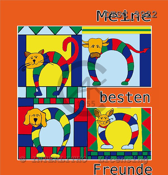 Hans, CUTE ANIMALS, paintings+++++,DTSC3922,#AC# deutsch, illustrations, pinturas