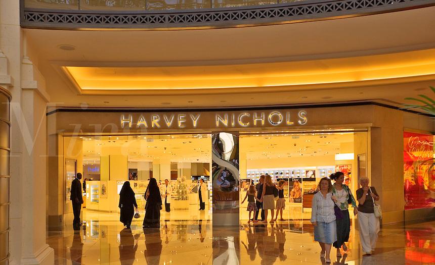Harvey Nichols store at the Mall of the Emirates. Dubai. United Arab Emirates.