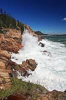 Storm Waves Crash along Acadia Coast  #A46