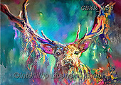 Simon, REALISTIC ANIMALS, REALISTISCHE TIERE, ANIMALES REALISTICOS, innovative, paintings+++++A_SueG_WoodlandStag,GBWR155,#a#, EVERYDAY,deer