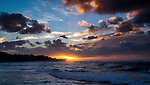 Oahu sunset, New Year's Eve, 2014
