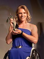 01-06-10, Tennis, France, Paris, Roland Garros, ITF Awasds dinner, Esther Vergeer wereldkampioene rolstoeltennis