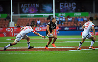 NZ's Joe Webber in action during the men's pool match between New Zealand and USA. Day one of the 2020 HSBC World Sevens Series Hamilton at FMG Stadium in Hamilton, New Zealand on Saturday, 25 January 2020. Photo: Dave Lintott / lintottphoto.co.nz