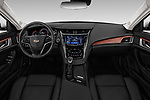 Stock photo of straight dashboard view of a 2019 Cadillac CTS Luxury 4 Door Sedan