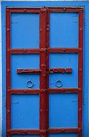 Asie/Inde/Rajasthan/Udaipur: Détail porte d'entrée du temple de Lakshmi (déesse de lla richesse) près du marché Bara Bazar