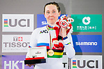 Katie Archibald of Great Britain celebrates winning in the Women's Omnium Points Race 4/4 prize ceremony during the 2017 UCI Track Cycling World Championships on 14 April 2017, in Hong Kong Velodrome, Hong Kong, China. Photo by Marcio Rodrigo Machado / Power Sport Images