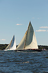 Charter match racing between the 12 Meter US-14 Northern Light (1938) and the 12 Meter US-11 Gleam (1937) in Newport, Rhode Island.