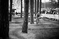 Lars Van der Haar (NLD/Giant-Alpecin) leading the race<br /> <br /> Men's Elite Race<br /> <br /> UCI 2016 cyclocross World Championships,<br /> Zolder, Belgium