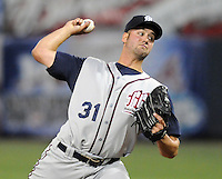 12 April 2008: Matt Torra of the Mobile BayBears, Class AA affiliate of the Arizona Diamondbacks, in a game against the Mississippi Braves at Trustmark Park in Pearl, Miss. Photo by:  Tom Priddy/Four Seam Images