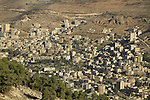 Samaria, a view of the Palestinian city Nablus (Shechem) as seen from Mount Gerizim, Mount Ebal is in the background