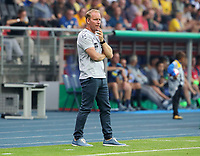 Trainer Henrik Pedersen      <br /> / Sport / Football / DFB Pokal 1.round 3. Bundesliga Bundesliga /  2018/2019 / 20.08.2018 / BTSV Eintracht Braunschweig vs. Hertha BSC Berlin / DFL regulations prohibit any use of photographs as image sequences and/or quasi-video. /<br />       <br />    <br />  *** Local Caption *** © pixathlon<br /> Contact: +49-40-22 63 02 60 , info@pixathlon.de
