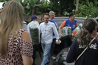 SUMARE-SP. 05.01.2019-O Ribeirão Quilombo na cidade de Sumaré, interior de São Paulo está três metros acima da altura normal. Todas as regiões de Sumaré apresentam pontos de alagamento, Choveu 60.0 mm nas últimas 24h no centro, mas a cidade inteira já acumula 140 mm. O prefeito Luiz Dalben visitou as 21 famílias que estão desabrigadas em duas escolas municipais da cidade. <br /> Dos 20 municípios da RMC (Região Metropolitana de Campinas), 14 estão em estado de atenção para as chuvas, de acordo com levantamento divulgado na manhã deste sábado (5) pela Sidec (Sistema Integrado de Defesa Civil). (Foto: Denny Cesare/Codigo19)