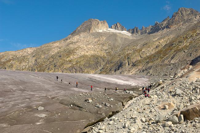 Rhone Glacier - The start of the Rhone River - Switzerland