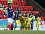 Scotland dejection after goal no 2 - Chris Cadden