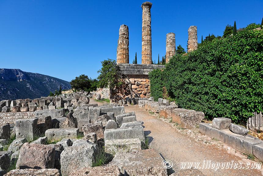 Temple of Apollo (4th cent. B.C.) in Delphi, Greece