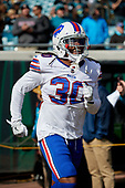 Buffalo Bills Lafayette Pitts (30) takes the field for pre-game warmups before an NFL Wild-Card football game against the Jacksonville Jaguars, Sunday, January 7, 2018, in Jacksonville, Fla.  (Mike Janes Photography)