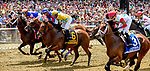 ELMONT, NY - JUNE 09: The field breaks for the 130th running of the Brooklyn Invitational Belmont Stakes Day at Belmont Park on June 9, 2018 in Elmont, New York. (Photo by Bob Mayberger/Eclipse Sportswire/Getty Images)