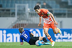 Jeju United Midfielder Kwon Soonhyung (R) trips up with Gamba Osaka Midfielder Ideguchi Yosuke (L) during the AFC Champions League 2017 Group H match Between Jeju United FC (KOR) vs Gamba Osaka (JPN) at the Jeju World Cup Stadium on 09 May 2017 in Jeju, South Korea. Photo by Marcio Rodrigo Machado / Power Sport Images