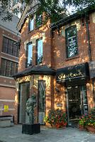 Dappled sunlight on Gallery Gevik in the trendy neighborhood of Yorkville, Toronto, Ontario