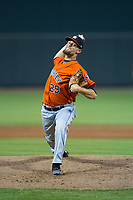 Buies Creek Astros starting pitcher Justin Ferrell (29) in action against the Winston-Salem Dash at BB&T Ballpark on April 13, 2017 in Winston-Salem, North Carolina.  The Dash defeated the Astros 7-1.  (Brian Westerholt/Four Seam Images)