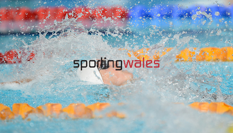 Wales Georgia Davies in action during her heats<br /> <br /> Photographer Ian Cook/Sportingwales<br /> <br /> 20th Commonwealth Games - Swimming -  Day 4 - Monday 28th July 2014 - Glasgow - UK