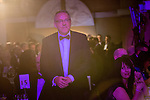 © Joel Goodman - 07973 332324 . 05/03/2015 .  Midland Hotel , Manchester , UK . Winner Paul Schofield of Farleys Solicitors LLP walks to the stage to collect his award . Crime Team of the Year . The Manchester Legal Awards 2015 . Photo credit : Joel Goodman
