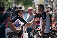 Alexander Kristoff  (NOR/UAE) interviewed before the start<br /> <br /> Stage 5: Lorient > Quimper (203km)<br /> <br /> 105th Tour de France 2018<br /> ©kramon
