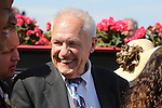 May 15, 2015: Trainer King Leatherbury joins Ben's Cat in the winner's circle.Ben's Cat, Julien Pimentel up, wins the Jim McKay Turf Sprint at Pimlico Race Course in Baltimore, MD. Trainer is King Leatherbury, owner is the Jim Stable. Joan Fairman Kanes/ESW/CSM