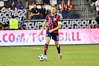 KANSAS CITY, KS - JULY 15: Walker Zimmerman #5 of the United States with the ball during a game between Martinique and USMNT at Children's Mercy Park on July 15, 2021 in Kansas City, Kansas.