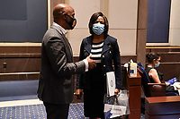 Rep. Val Demings (D-Fla.) is seen before a House Judiciary Committee hearing to discuss police brutality and racial profiling on Wednesday, June 10, 2020.<br /> Credit: Greg Nash / Pool via CNP/AdMedia