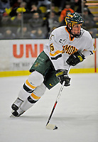 1 February 2008: University of Vermont Catamounts' defenceman Kevan Miller, a Freshman from Los Angeles, CA, in action against the University of New Hampshire Wildcats at Gutterson Fieldhouse in Burlington, Vermont. The seventh-ranked Wildcats defeated the Catamounts 5-1in front of a sellout crowd of 4,003...Mandatory Photo Credit: Ed Wolfstein Photo