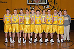 November 10, 2014- Tuscola, IL- The Tuscola Warrior Boys Fresh/Soph Basketball team. Back row from left are Colter Lewis, Cale Sementi, Jacob Craddock, Jaret Heath, Josiah Lemay, and manager Brodey Kramer. Front row from left are Dylan Pugh, Caleb Stumeier, Tyler Meinhold, Dakota Denny, and Bradley Kramer. [Photo: Douglas Cottle]