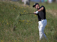 15th July 2021; Royal St Georges Golf Club, Sandwich, Kent, England; The Open Championship, PGA Tour, European Tour Golf, First Round ; Martin Kaymer (GER) plays from deep rough on the 2nd hole