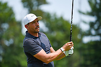 4th July 2021, Detroit, MI, USA;  Scott Stallings (USA) watches his tee shot on 2 during the Rocket Mortgage Classic Rd4 at Detroit Golf Club on July 4,