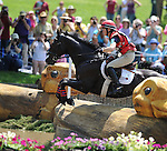 Heather Gillette(USA), competing on OUR QUESTIONNAIRE, during the Cross Country Test at the Rolex 3-Day 4-Star Event at the Kentucky Horse Park in Lexington, Kentucky on April 30, 2011.