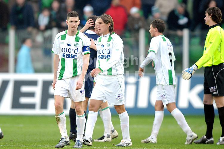 fc groningen - az eredivisie seizoen 2007-2008 17-02-2008.kruiswijk met cahais.fotograaf Jan Kanning *** Local Caption ***