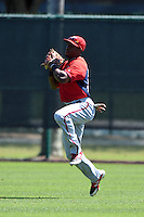 Washington Nationals outfielder Isaac Ballou (24) during practice before a minor league spring training game against the Atlanta Braves on March 26, 2014 at Wide World of Sports in Orlando, Florida.  (Mike Janes/Four Seam Images)
