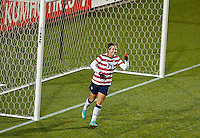 Abby Wambach smiles after almost scoring in the first half. USWNT played played a friendly against Ireland at JELD-WEN Field in Portland, Oregon on November 28, 2012.
