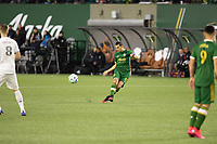 PORTLAND, OR - MARCH 01: Diego Valeri #8 of the Portland Timbers passes the ball during a game between Minnesota United FC and Portland Timbers at Providence Park on March 01, 2020 in Portland, Oregon.
