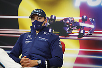 29th August 2021; Spa Francorchamps, Stavelot, Belgium: FIA F1 Grand Prix of Belgium,  race day: After cancellation of the race due to standing water on track,  HAMILTON Lewis (gbr), Mercedes AMG F1 GP W12 E Performance  press conference after race RUSSELL George (gbr), Williams Racing F1 FW43B