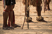 Archers wait for their turn to shoot during the International Indigenous Games, in the city of Palmas, Tocantins State, Brazil. Photo © Sue Cunningham, pictures@scphotographic.com 28th October 2015