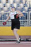 Jennifer Brown, Toronto 2015 - Para Athletics // Para-athlétisme.<br /> Jennifer Brown competes in the Women's Discus Throw F37/38/44 Final<br /> // Jennifer Brown participe à la finale du lancer du disque féminin F37/38/44. 12/08/2015.