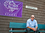 Trainer Tom Voss in the paddock on Delaware Handicap Day at Delaware Park in Stanton, Delware on July 16, 2011.