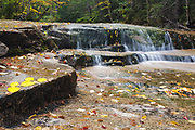 Cascade along Ledge Brook during the autumn months, Located along the Kancamagus Highway (route 112) which is one of New England's scenic byways in the White Mountains, New Hampshire USA.